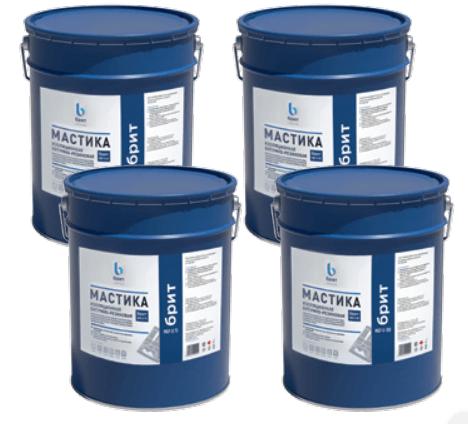 Битумно-резиновая изоляционная мастика БРИТ МБР-Х-65, МБР-Х-75, МБР-Х-90, МБР-Х-100